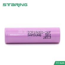 lithium battery original Samsung 18650 2600mAh ICR18650-26F with tabs