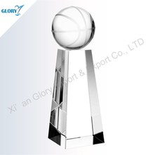 Classical Crystal Trophy Basketball For Souvenir