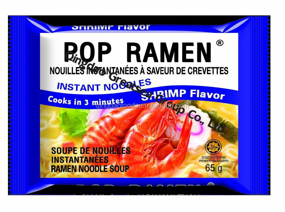 POP SHRIMP FLAVOR INSTANT NOODLES