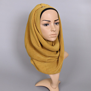 New Arrival Fashion Women Arab Muslim Hijab wrinkle Scarf with 24 plain colors