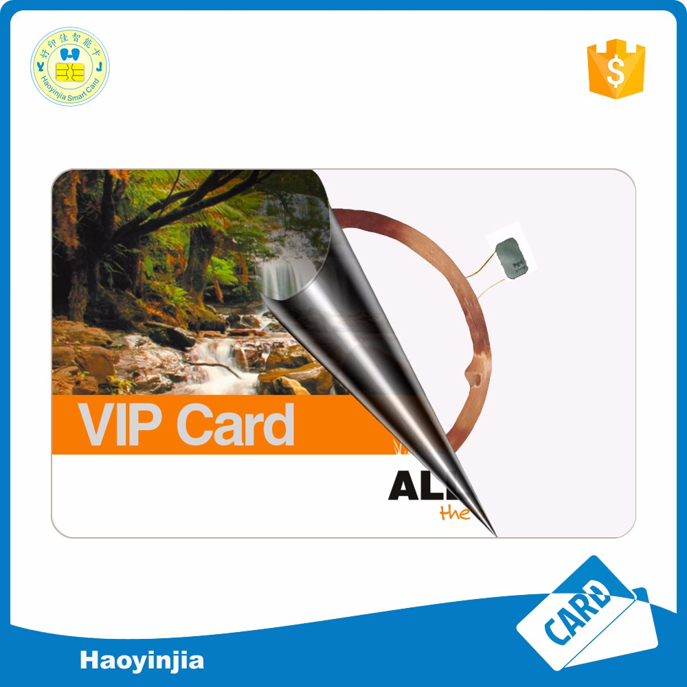 Iso Cr80 sle4442 pvc chip contact smart card maker