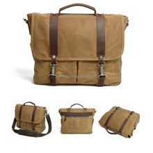 New retro cloth waterproof canvas leather wax fancier camera shoulder messenger portable inclined bag