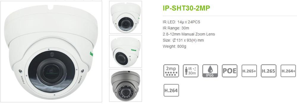 Cantonk H.264+ H.265+ 1080p p2p onvif outdoor full hd networking dome ip camera