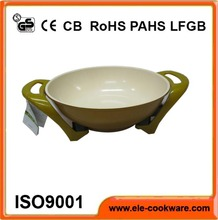 Electric aluminum carbon steel frying pan with ceramic coating