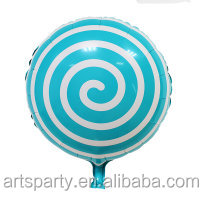 Lollipop foil helium balloon,party decoration rainbow colors