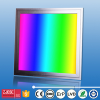 whole hot square recessed panel colorful RGB led panel light white blue red yellow