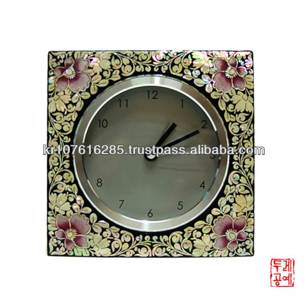 Korea Traditional Flower Square Clock