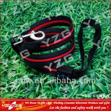 Nylon colorful webbing metal chain dog training leash lead