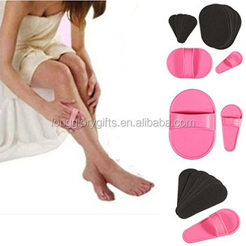 painless face and leg skin hair Exfoliator removal pads