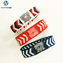 Soft comfortable nylon plain premium bespoke nixed colors hair ties in elastic hair bands custom logo by woven label