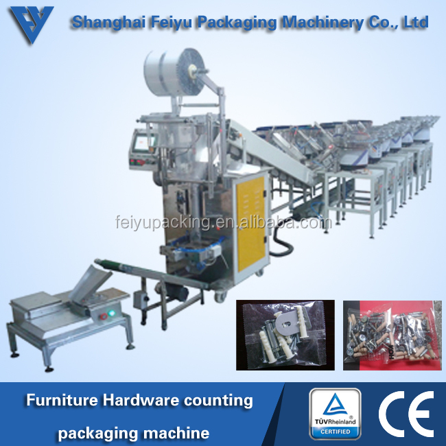 wooden dowl counting and packaging machine