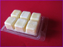 Good quality clear plastic wax melt clamshell packs