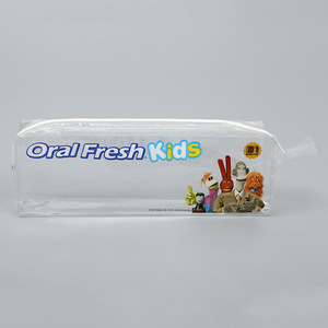 High quality recycled clear Vinyl pvc toiletry bag with zipper