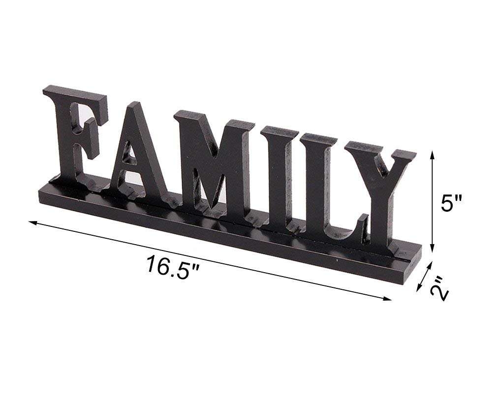 Wooden Family Words Decorative Sign Free Standing Wood Letter