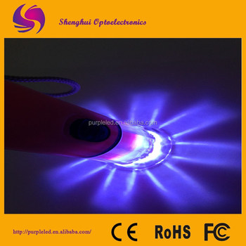 2015 super bright and convenient type led to uv flashlight
