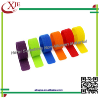 Adjustable Nylon Strap Hook Loop Cable Tie With Logo Printed