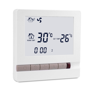 Fan coil lcd digital thermostats with 3 fan speed control digital temperature controller