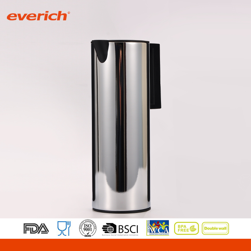 Everich Milk/Water/Coffee Infuser Water Pitcher 1000ml Sharp Beaks Stainless Steel Milk Jug
