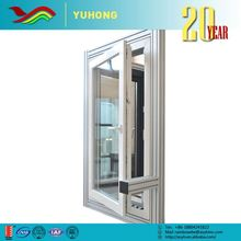 Aluminum double hinged windows with double glass