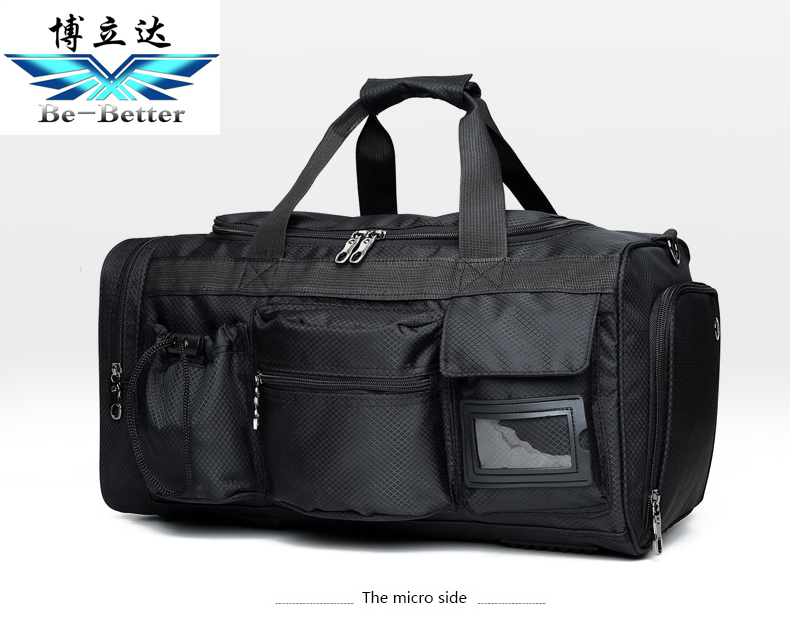 multifunctional duffel bag with shoe compartment bottle