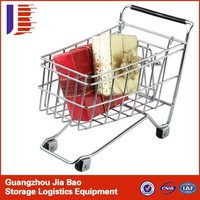 Collapsible 4 Wheels Collapsible Foldable Supermarket Electric Shopping Cart Trolley