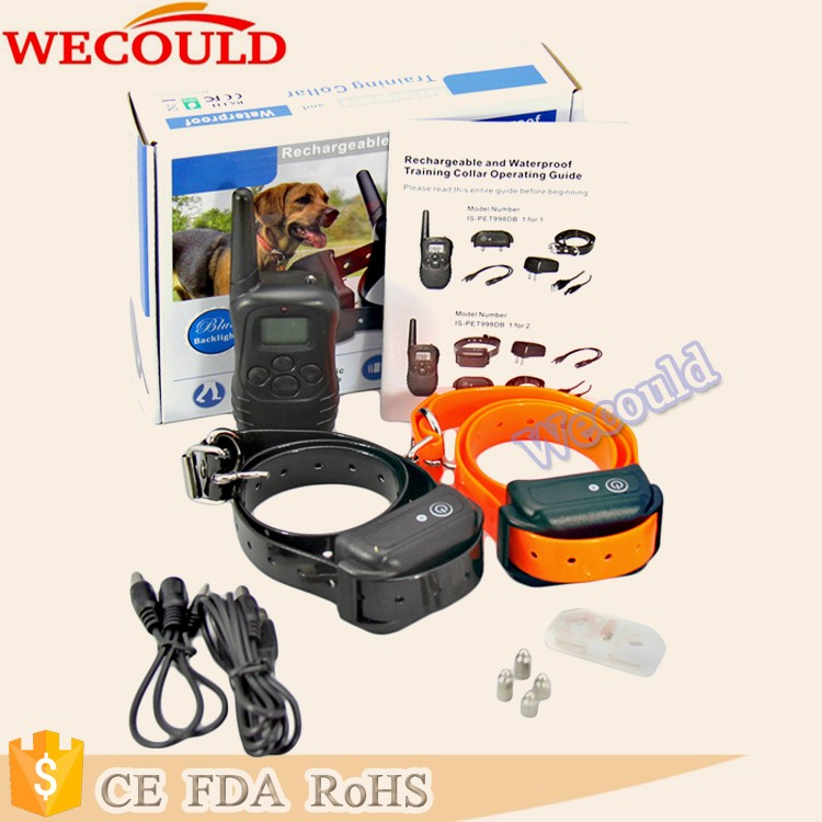 Dog Agility 300M Remote Pet Training Collar With Big Lcd Digital Display PET-998DB