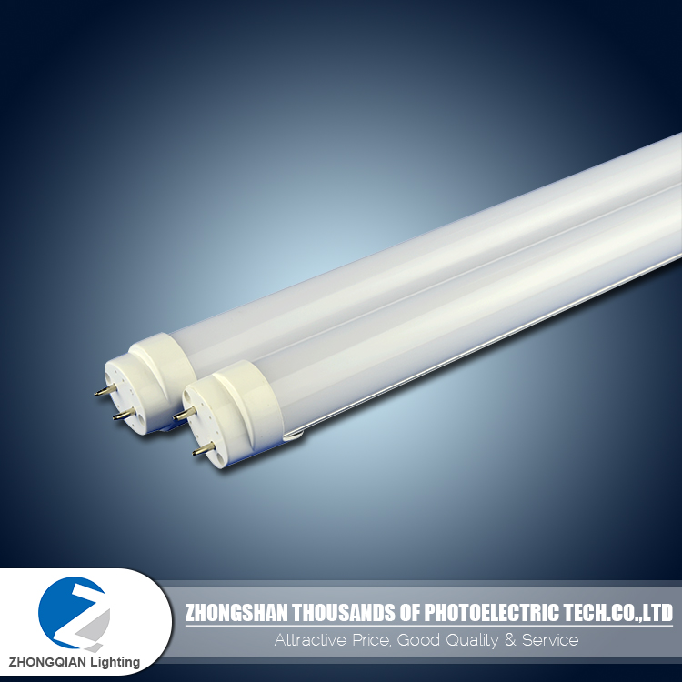 Replaceable PC milkey cover CRI 80 60cm 9w plastic shell T8 led fluorescent tube