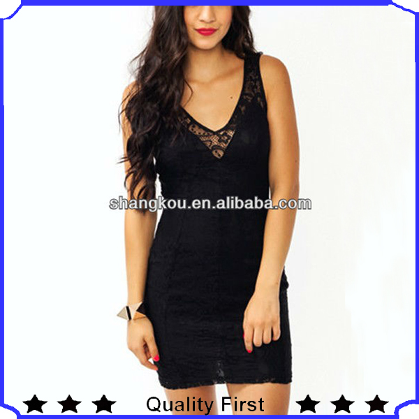 fashion snug lace dress overlay with a stretchy liner