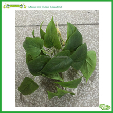 plastic fake artificial green leaf anthurium leaves