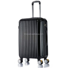 wholesale black cool luggage with quiet plane wheels