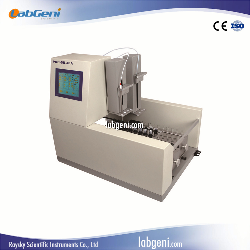 Automatic Solid Phase Extraction with liquid injection plunger,automatic SPE PRE-SE-40A LabGeni