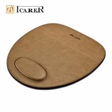 Wholesale Portable Gaming Real Leather Mouse Mat