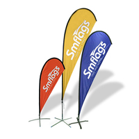 Custom polyester outdoor display teardrop banner beach flags for sale