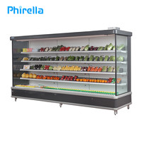 Energy-efficient commercial vegetable display chiller refrigerator & fridge for supermarket