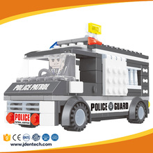 AUSINI kids enlighten plastic police van to assemble wholesale brick toys