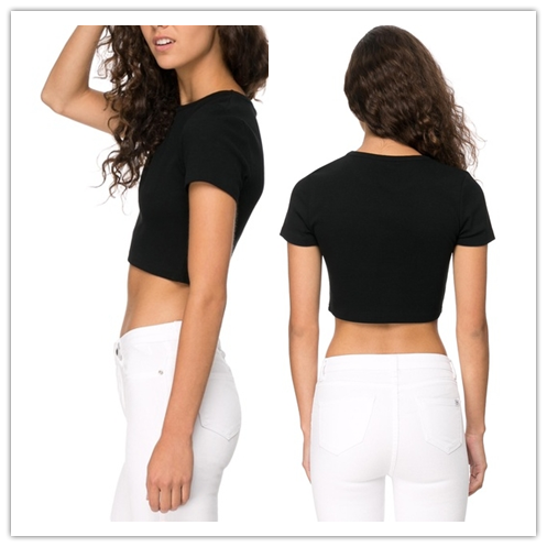 2015 China manufacturer customized ladies sexy crop tee shirt