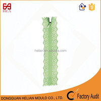 #5 beautiful lace tape invisible zipper lace fabric zipper apparel /lace dress zipper
