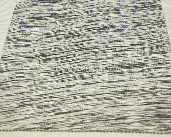 Wholesales factory R/T,grey melange ,slub design,french terry fabric