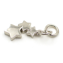 stars metal zipper puller for handbags
