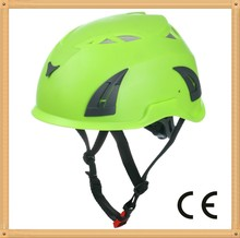Customized height safety helmet for climbing at height and rope access