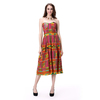 High Quality Satin Pleated Ethinic Africa Clothing Strapless Dress Women