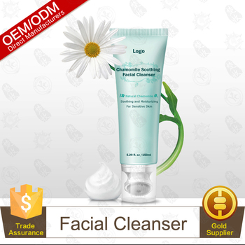 Posh Product Chamomile Sensitive Face Cleanser With Silicon Rubber Brush Head,