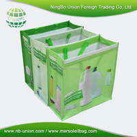 Eco Friendly easy carry laminated RPET shopping bag