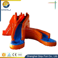Chinese factory wholesale large cheap PVC Inflatable water slide for adult