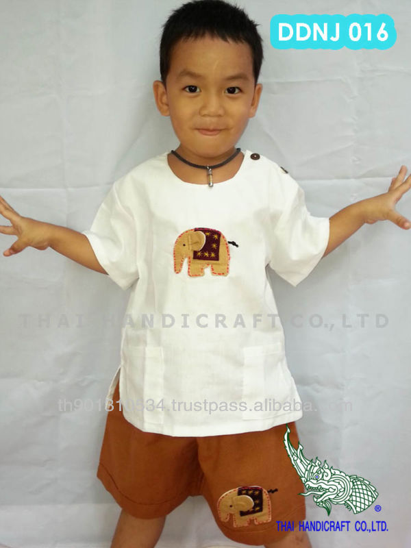 Thai Boy cotton children's clothing elephant design