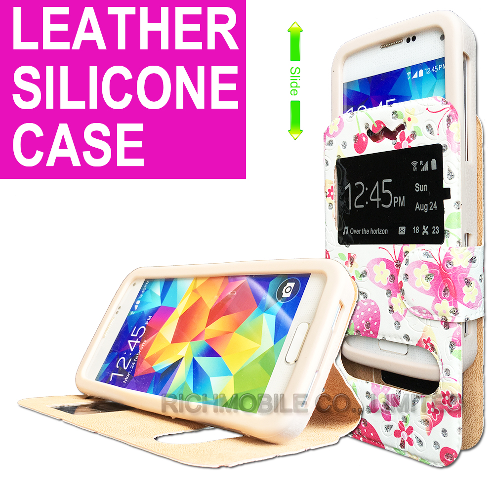 for Swipe Konnect Grand Rhinestone Maple 3D Relief Print Silicone Leather Slider Book Wallet Stand Case Cover Universal