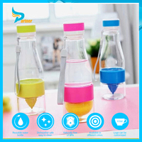 New Fashion Lemon cup glass juice water cup my fruit infuser bottle 550ml football sports bottle drinking glass cup