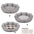 Dog Cave Bed Pet Nesting Cats Bed Small Dogs Houses Supplies Round Shape Gray