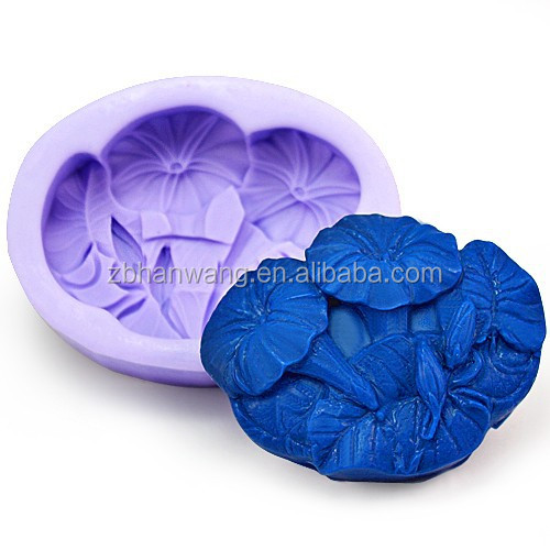 R1028 Nicole Blue Lotus Soap Models <strong>Silicon</strong>
