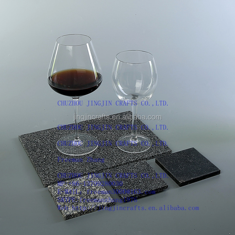 oval,round,square 2016 new all shape handmade slate coaster/slate placemat ,coaster with rough edges